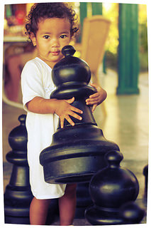 My little chess player.