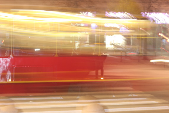 Blurry train